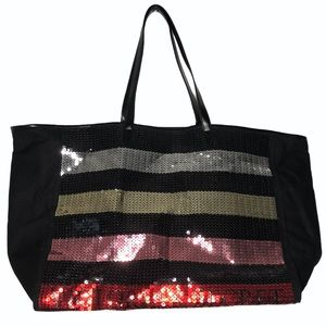 Victoria's Secret sequined tote bag